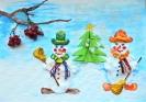 Снеговички в ожидании Нового года