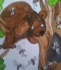 Медведь у пчел