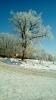 Голубое зимнее небо