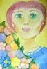 Портрет с цветами